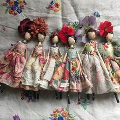 Spring Time in January, new ladies for sale ⭐email me at sam@magpieandthewardrobe.com or message me ❤️ #themagpieandthewardrobe #magpieandthewardrobe #sammckechniedolls #sammckechnie #dollmaker #springtime