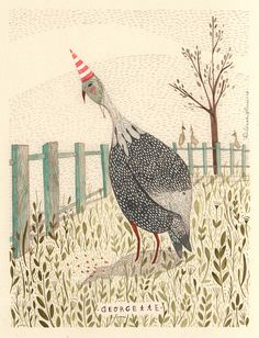 Georgette - Loving the texture and patterns in the artwork of Rebecca Green.