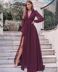 Elegant Dresses, Pretty Dresses, Beautiful Dresses, Evening Party Gowns, Evening Dresses, Long Sleeve Evening Gowns, Bridesmaid Dresses, Prom Dresses, Dress Prom