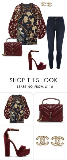 """Untitled #456"" by glamgurl32 ❤ liked on Polyvore featuring Biyan, Yves Saint Laurent, Steve Madden, Chanel and River Island"