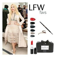 LFW || Def our favorite #lfw dolled-up look. Strong brow game, killer nails, matte red lips & of course a fab clutch is everything you need! Nails @staticnailsofficial  Lipstick @maccosmetics ruby woo  Brows @anastasiabeverlyhills brow wiz Clutch Dollup Case Photo via @voguemagazine #makeup #makeupblogger #instabeauty #instastyle #streetwear #Monday