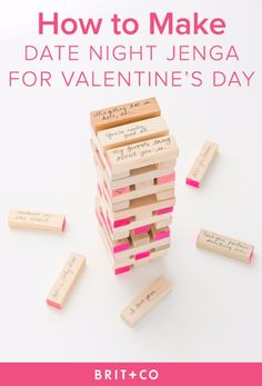 DIY Date Night Ideas - DIY Date Night Jenga - Creative Ways to Go On Inexpensive Dates - Creative Ways for Couples to Spend Time Together - Cute Kits and Cool DIY Gift Ideas for Men and Women - Cheap Ways to Have Fun With Your Husbnad or Wife, Girlfriend or Boyfriend - Valentines Day Date Ideas http://diyjoy.com/diy-date-night-ideas