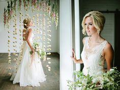 wedding backdrops - photo by Lindsey Orton Photography http://ruffledblog.com/romantic-bridal-inspiration-shoot