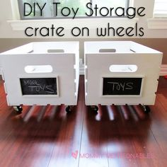 How to make a toy storage DIY Wooden Crate Toy Storage DIY Toy Storage Playroom ideas kids room ideas toy storage tutorial Wooden Crates Toy Storage, Wooden Crates On Wheels, Repurposed Wooden Crates, Diy Wooden Crate, Diy Toy Storage, Old Crates, Crate Storage, Playroom Storage, Wine Crates