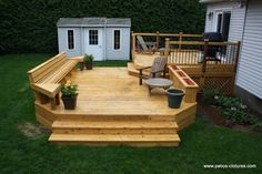 But where do I put the table? Backyard Pool Designs, Backyard Patio Designs, Yard Design, Gazebo On Deck, Hot Tub Deck, Deck Makeover, House Yard, Decks And Porches, Outdoor Projects