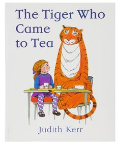 Buy The Tiger Who Came to Tea by Judith Kerr. This is a classic children's book about a tiger who visits Sophie's house at tea time and eats all the food, forcing them out to supper. Best Children Books, Childrens Books, Toddler Books, Young Children, Children Stories, Good Books, Books To Read, Baby's First Books, Big Books