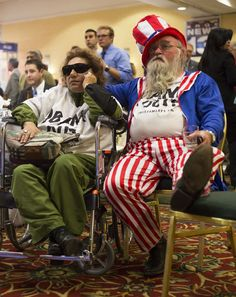 Leonor Reisch, Larry Reisch  Leonor Reisch, and her husband, Larry Reisch, watch television as it's projected that President Barack Obama will win re-election, Tuesday, Nov. 6, 2012, at the Republican election party in Albuquerque, N.M. (AP Photo/Jake Schoellkopf)