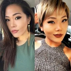 This beauty who went short and light. | 18 Incredible Hair Makeovers That'll Make You Want To Get A Haircut