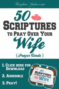 The perfect set of prayer cards for a husband to pray over his wife!