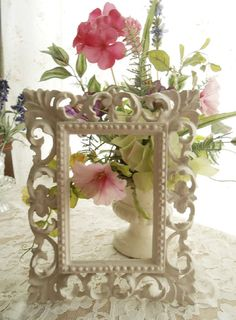 Pair Shabby Chic Vintage Picture Frames by FurnitureFusion on Etsy, $25.00