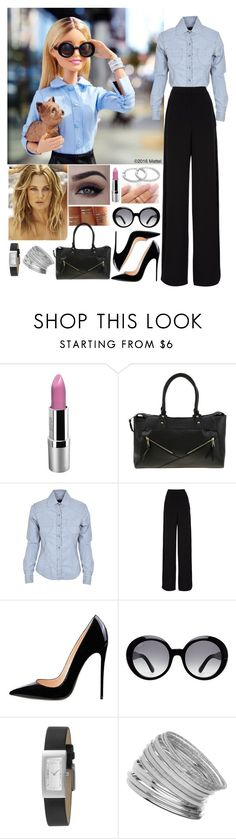 """""""If I were Barbie..."""" by annacastrolima ❤ liked on Polyvore featuring GET LOST, Rochas, Tod's, DKNY, Miss Selfridge, Barbie, DrewBarrymore, blackandjeans and jeansandblack"""