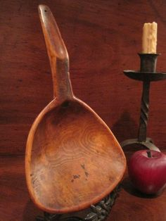 Antique 1700s Colonial Primitive Large Carved Cherry BUTTER Paddle Scoop AAFA #NaivePrimitive For Sale North Bayshore Antiques