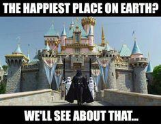 Darth Vader on Disneyland #StarWars #Disneyland #Disney