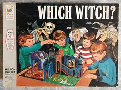 1971 Milton Bradley Which Witch? Board Game 1971 Milton Bradley Which Witch? Halloween Board Game, Halloween Games, Spooky Games, Halloween Party, Retro Horror, Vintage Horror, Old Board Games, Vintage Board Games, Game Boards