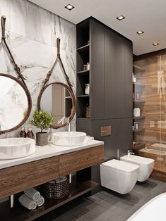 Industrial Style Bathrooms Plus Ideas & Accessories You Can Copy From Them - industrial Bathroom - Indusrtial Design Industrial Bathroom Design, Industrial Interiors, Modern Bathroom Design, Bathroom Interior Design, Industrial Style, Bathroom Designs, Industrial Bathroom Accessories, Bathroom Sink Design, Kitchen Design