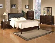 Check out the latest #wooden furniture for bedroom. This #QueenBedroomSet is available at Leon Furniture Store.