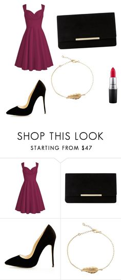 """""""for a date"""" by hermi7 ❤ liked on Polyvore featuring Dune, MAC Cosmetics and love"""