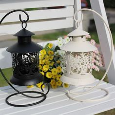 Romantic Morrocan Shabby Retro Candle holder lantern wedding Home centerpiece # #None