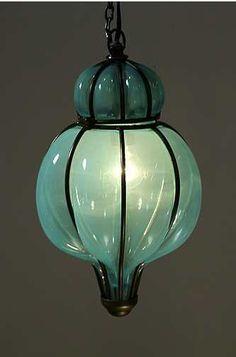 Beautiful blown glass lantern