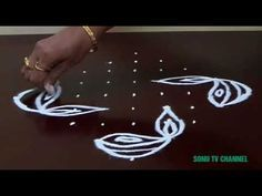 9 DOTS KOLAM || RANGOLI FOR DIWALI || STRAIGHT DOTS || CHUKKALA MUGGULU || HOW TO DRAW || - YouTube