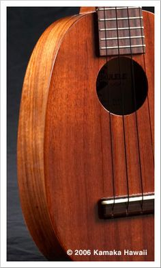 Kamaka's signature ukulele, designed and patented in 1928 by Samuel K. Kamaka. The Pineapple has a unique, oval-shaped body and produces a r...