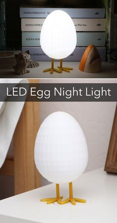 There's no better weapon against the monsters under the bed than a night light. And there's no cuter night light than an egg shaped one!