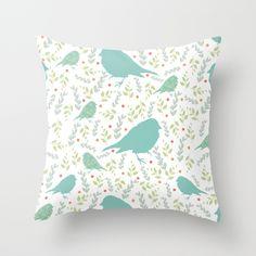 bird Throw Pillow by Ceren Aksu Dikenci - $20.00