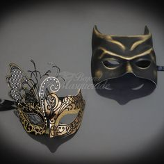 4everStore Couples Masquerade Mask, Batman Costume Masquerade Mask, Masquerade Masks Women Gold, Mens Masquerade Mask Black