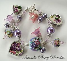 Broken China Bracelet  Broken China by brambleberrybracelet, $45.00