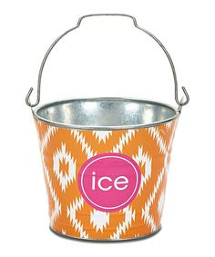 This delightful bucket combines form and function with a bold pattern and fun, personalized text. Perfect for storing anything from Legos to leggings, it adds a stylish touch to any room. Personalize up to 20 characters8.5'' H x 6.5'' diameterMetal / paperWipe clean