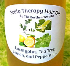 Scalp Therapy Hair Oil  Anti-Dandruff  by TheEarthenTemple on Etsy