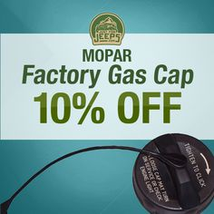 Need to replace a broken or missing gas cap? Look no further! Order a genuine Mopar factory part from Just for Jeeps today and receive 10% off your order!  Order now: JustForJeeps.com/factorygascap1.html