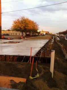 Fresh concrete.  10.10.2011