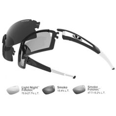 Tifosi Escalate S.F. Fototec Sunglasses - Black/White