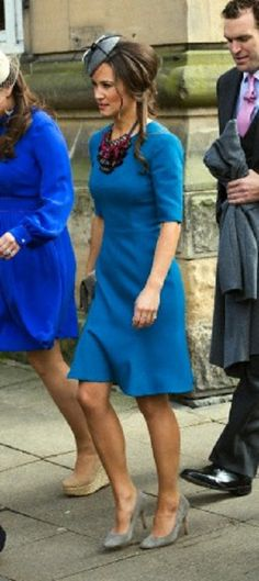 Pippa Middleton attended the wedding of Michael Marsham, son of the Earl and Countess of Romney and Lucy Beaumont, daughter of Viscount and Viscountess Allendale at Hexham Caherdral on 27 April 2013