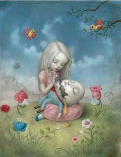 """""""Too Fragile"""" from """"Eye Candy"""" Exhibition 2012 by Nicoletta Ceccoli."""
