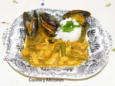 Curry amarillo (thai) de mariscos