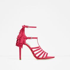 ZARA - COLLECTION SS/17 - FRINGED HEEL LEATHER SANDALS