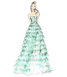 Cara Reem Acra Fashion Illustration Brooke Hagel by brooklit