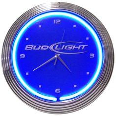 Neonetics Blue Bud Light Neon Clock - 8BUDLI - Bud Light Clock