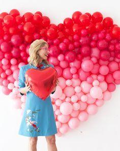 Ombre Heart Balloon Backdrop | Oh Happy Day!