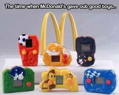Mcdonald's Toys: I think I had all of them except the black one.
