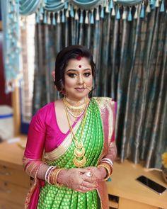 Bengali Bridal Makeup, Bride Look, Marriage, Sari, Fashion, Valentines Day Weddings, Saree, Moda, Fashion Styles