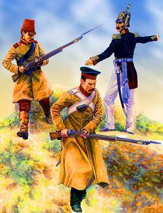 Russian Moskovski and Dneprovski Regiment of Foot at Alma, Crimean War