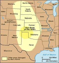 dust bowls of the 1930s dust bowl map from. Black Bedroom Furniture Sets. Home Design Ideas