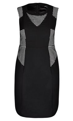 City Chic - LASER LADY DRESS - Women's Plus Size Fashion