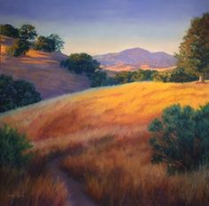 Diablo Hills Pastel on Paper By Debbie Wardrope Available at Studio Seven Arts in Pleasanton California