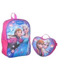 Disney Frozen 'Raining Snowflakes' Backpack with Lunchbox ** Want additional info? Click on the image. (This is an Amazon Affiliate link and I receive a commission for the sales)
