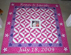 I made this signature quilt for neice. Another could be made for your special birthday,wedding or retirement. Signature Quilts, Diy Wedding Favors, Special Birthday, Wedding Quilts, 50th Anniversary, Projects To Try, Diy Crafts, Sewing, Fabric