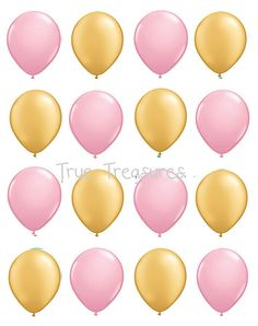 We sell only the highest quality Balloons made in the USA.  Perfect for Weddings Baby or Showers showers  25 Assorted Gold and Pink balloons Superior Quality Qualatex Size: 11 inch ( when fully inflated)  Your balloons can be filled with helium or air. They ship uninflated.  Colors may differ on each computer monitor.  Fill slowly overfilled Balloons can Pop.  Children can choke or suffocate on broken balloons keep away from small children.